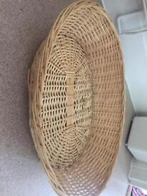 Dog basket made from wicker