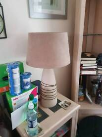 Large table lamp and floor uplighter