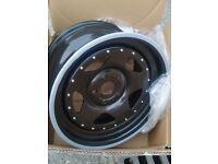 Extreme offset wheels alloys banded steel 5x112 5x110 5x114.3 5x114 audi vw seat honda vauxhall