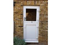 White UPVC Stable Door - Great Condition