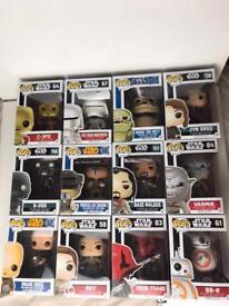 Bundle of 12 Star Wars pop figures