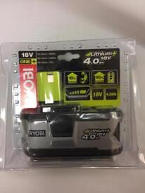 Ryobi one+ 18v lithium battery