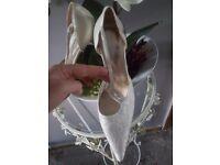 Designer christian rossi size 6 wedding shoes