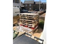 9x Wooden pallets available for free!