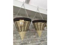 Rattan Effect hanging baskets. New