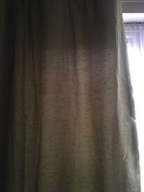 Dunlem green curtains 40x60