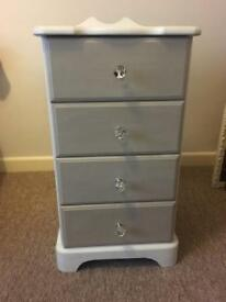 Upcycled small pine set of drawers