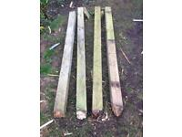 Fence posts timber X4