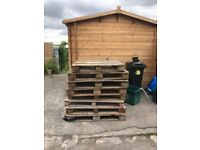 8 pallets free for collection