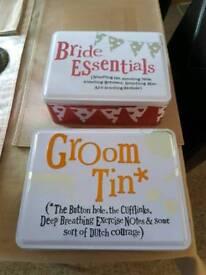 Bride & Groom Tins