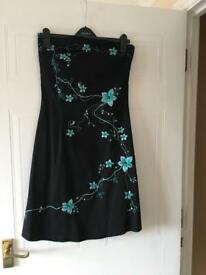 Jane Norman strapless dress, size 12