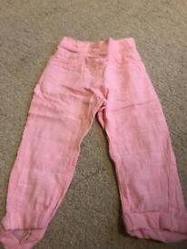 Girls 12-18 months Next linen trousers
