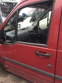 FORD TRANSIT CONNECT 02-08 T230 PASSENGER FRONT DOOR IN RED