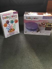 Babycakes cake pop maker and recipe book.
