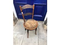 Vintage bentwood chair - cafe style Wooden chair , great for kitchen