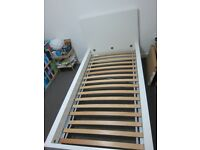 Bed Frame: IKEA Malm single bed frame - White - Luroy Slatted bed base