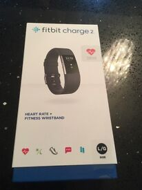 Fitbit Charge 2 - Large - Black - Brand New In Box
