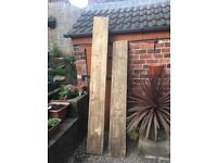 2 large pieces of reclaimed timber
