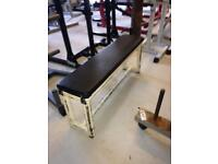 Heavy duty flat dumbbell bench - weights gym