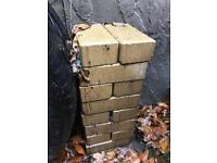 Briquettes, brick weave, 16 in a yellow beige FREE