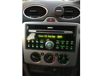 Ford Sony Stereo MP3 CD Player AUX inc code TRANSIT FOCUS CONNECT FIESTA C-MAX