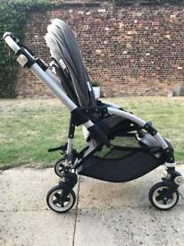BUGABOO 3 Bee in Grey - well kept and lots of accessories