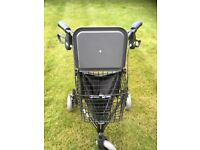 Tri-walker with Bag, Basket and Tray. As new condition. Never used