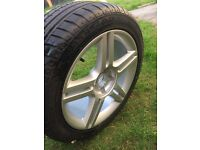 """New genuine Audi A4 S Line 17"""" alloy with new tyre"""