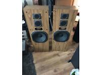 Yamaha Retro walnut 140w HUGE floor standing hifi Speakers 🔊