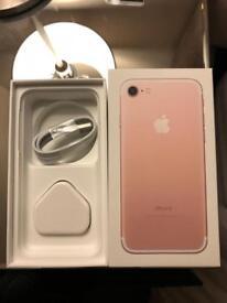 128GB iPhone 7 Rose Gold - Locked to O2
