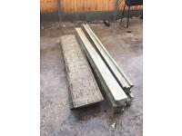 Concrete fence panels and base's