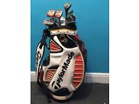 Taylormade golf bag clubs