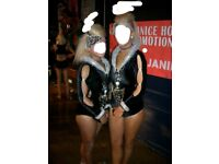 # PAIR of freestyle disco dance doubles pair champ dance janine costume age under 14