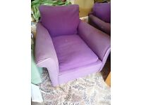 Old Large Lounge Armchairs