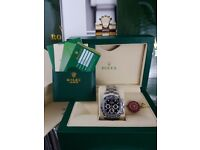 Brand New Silver Rolex Daytona Black face, Comes Rolex bagged, Boxed with paperwork