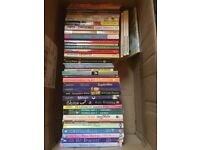 BOOKS: Box of 48 books mostly suited to girls aged approx between 8 and 12