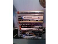 ps3 with 1 controler and all cadles and 12 games