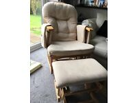 Nursing Chair Glider with Footstool