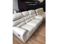 Leather exgillies 3/2/1 recliner suite