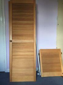Two sets of wardrobe doors