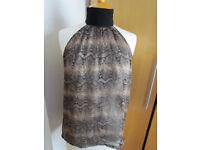 Zara leopard top, Size S/M