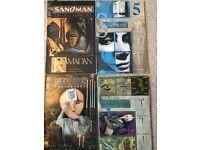Comics Selection including Sandman (Gaiman) and other DC and Marvel