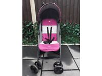 Joie Nitro Charcoal Pink Pushchair