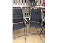ROBERT DYAS - SEVILLE PAIR OF CHAIRS -MULTI-POSITION LIGHTWEIGHT NEW