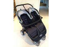 Baby jogger city mini twin pushchair, black/grey