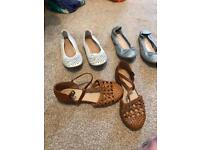 Selection of next girls shoes size 13.