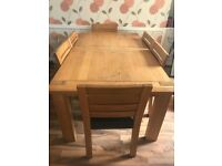 Marks and Spencer's sonoma dining table and chairs