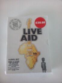 Brand New, Unused, Still Sealed, Live Aid 4 DVD Box Set