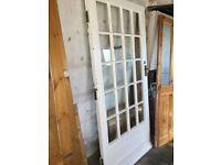 """External hardwood glazed door. 32"""" wide"""