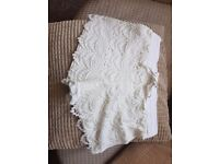 Womans lace white shorts size 8 new without tags